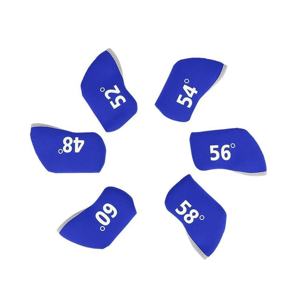 Epayst 6pcs Golf Club Iron Head Elastic Protective Cover Case Set Accessory(blue) By Epayst.