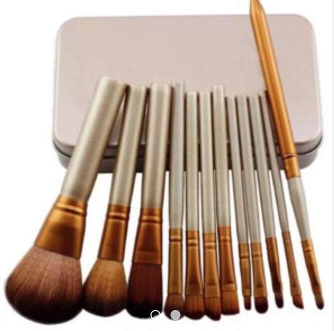 12pcs Make Up Brush Set Makeup With Box (12 Pcs) Naked By Girlss Stylish.