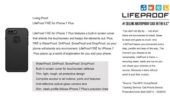Lifeproof Fre Waterproof Case for Apple iPhone 8 Plus & 7 Plus -  Waterproof, Shockproof, Dirtproof, Snowproof Protective Case