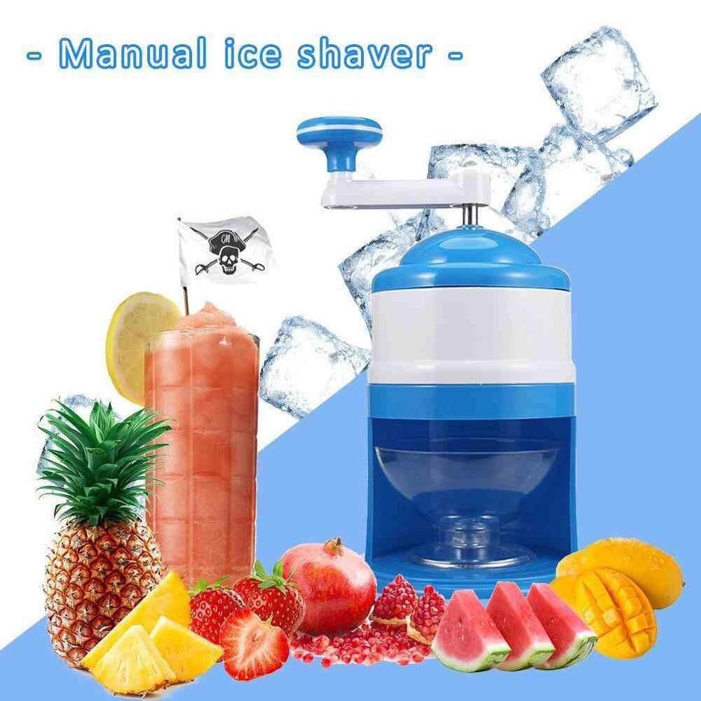 Zloyi Handhold Manual Ice Crusher Shaver Machine Grinding Snow Cone Maker Machine Household Party Diy Ice Cream Candy Frappe By Zloyi.
