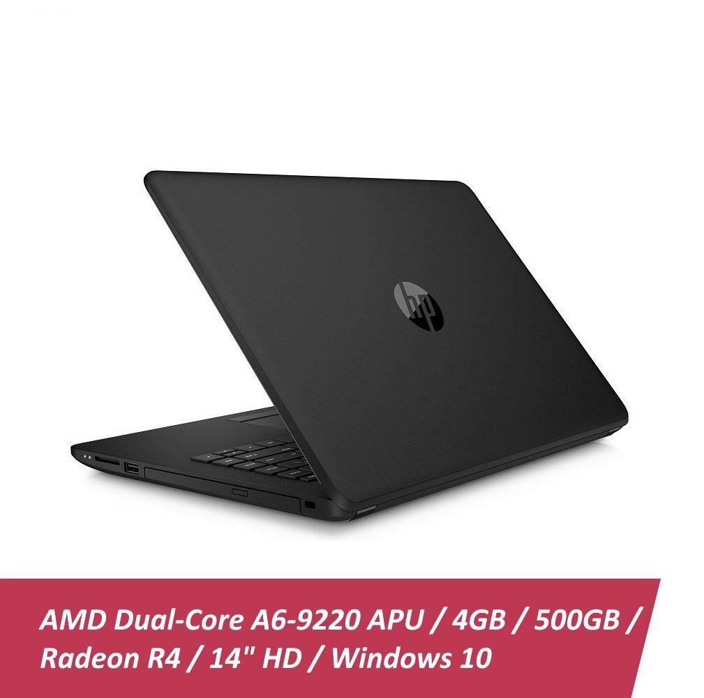 HP 14-bw053AU Laptop  AMD A6  4GB  500GB  AMD Radeon R4  14 - Black Malaysia
