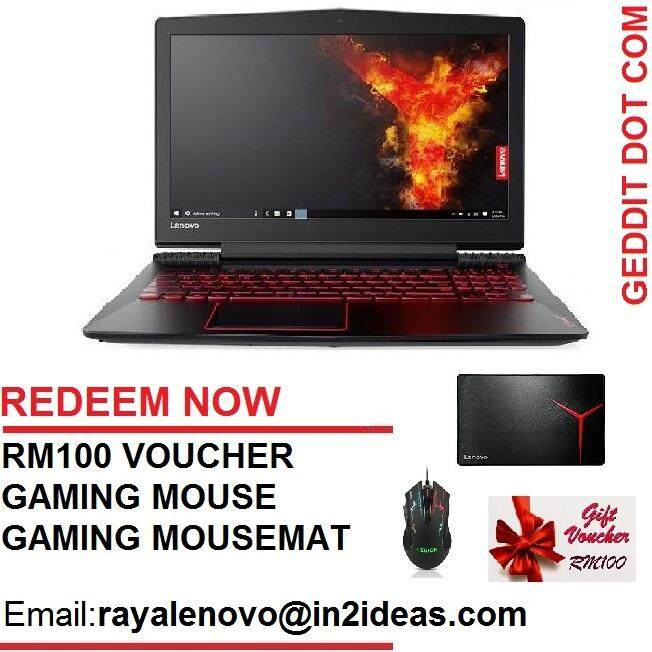 LENOVO Y520-15IKBN GAMING NOTEBOOK 80WK0128MJ (i7-7700HQ,4GB,1TB,GTX1050Ti,15.6,WIN10,2 YEAR ONSITE) + *FREE GIFTS* Malaysia