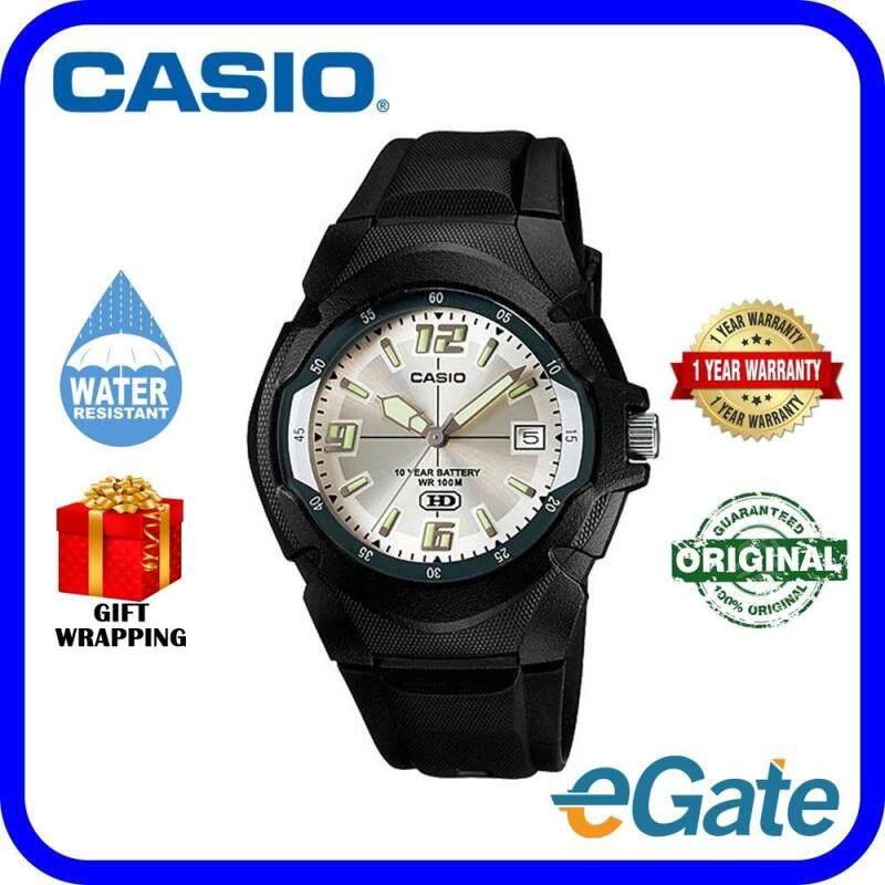 Casio MW-600F-7A Analog Unisex Watch Black Silver Casual Original Malaysia