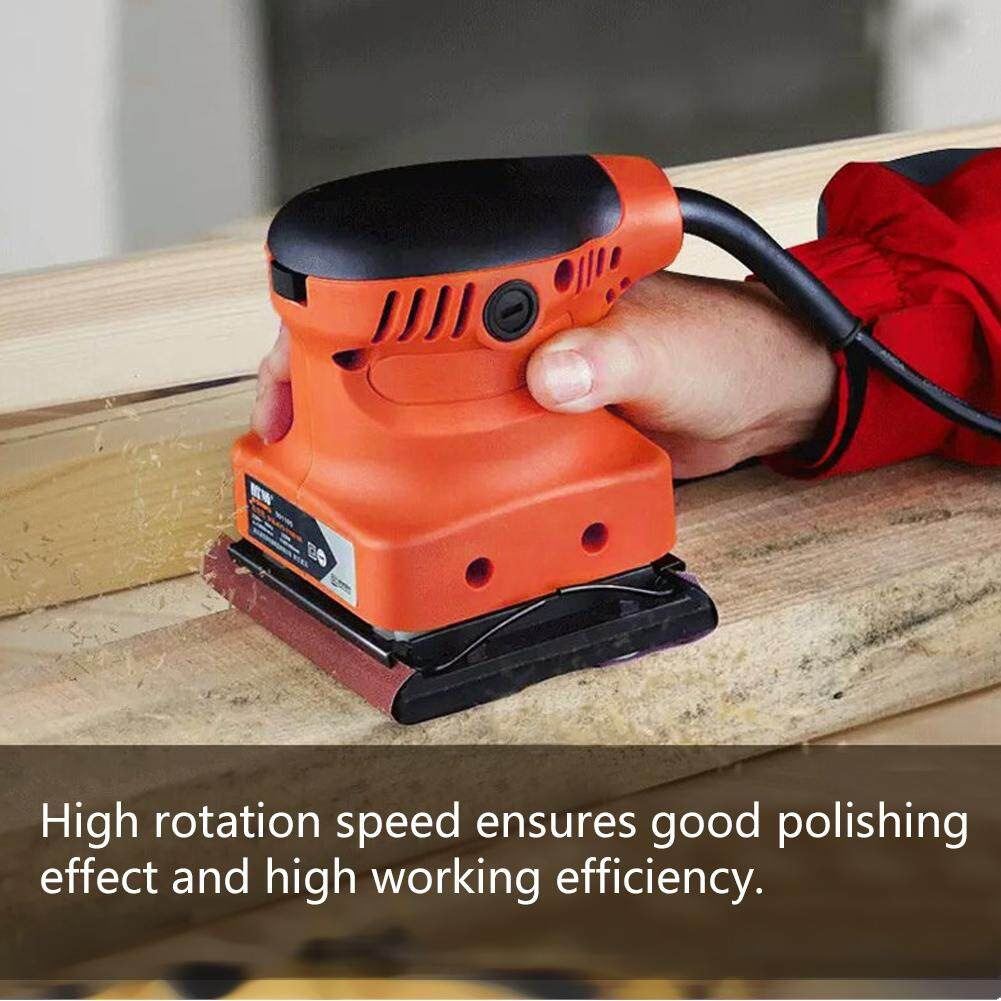 Electric Sander Woodworking Polisher Wall Wood Paint Sanding Polishing Tool (UK Plug 220V)