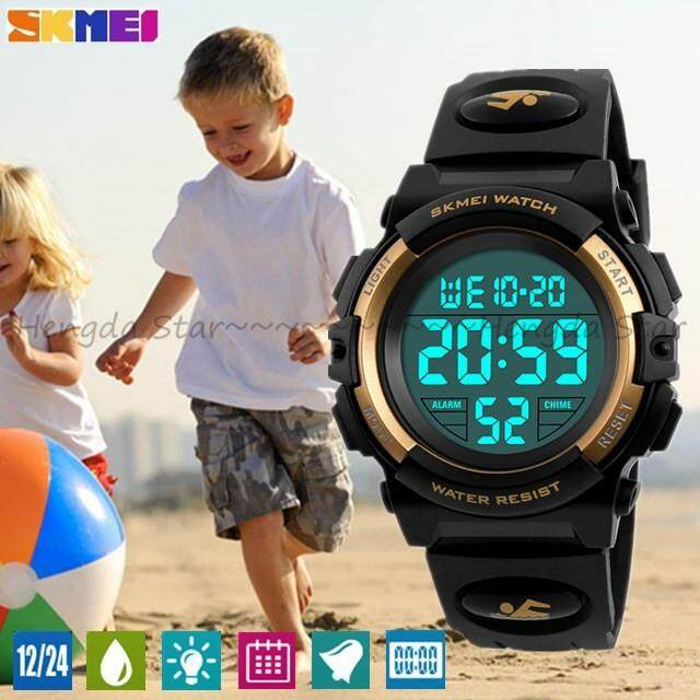 Genuine SKMEI Sports Famous Brand Outdoor Sports Children Diving Watch Kids Watch Boys Girls LED Digital Watch Waterproof Children Gift Watch Clock Malaysia