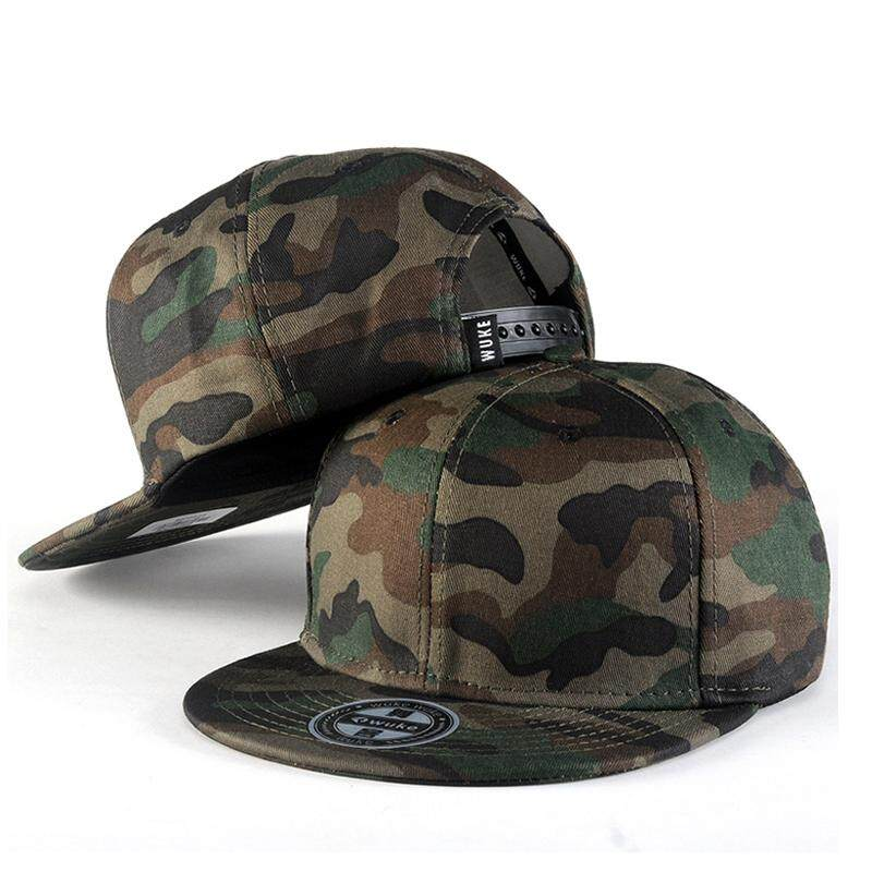 89a90bd9 New Camouflage Baseball Caps For Men and Women Flat Brim Cap For Male Army  Style Hip