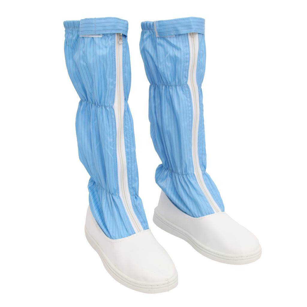 Miracle Shining ESD High Top Boots Nonslip Anti-static Clean Room Working Shoes 255mm Blue