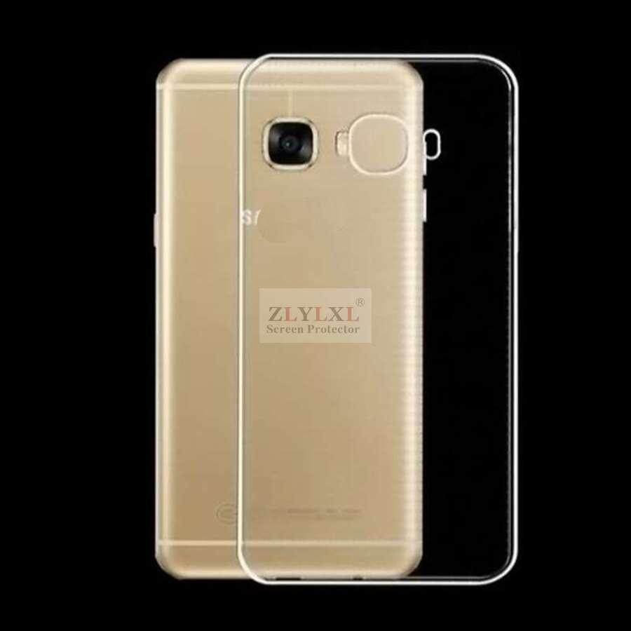 Soft transparent TPU silicone phone bag back cover case for Samsung galaxy C7