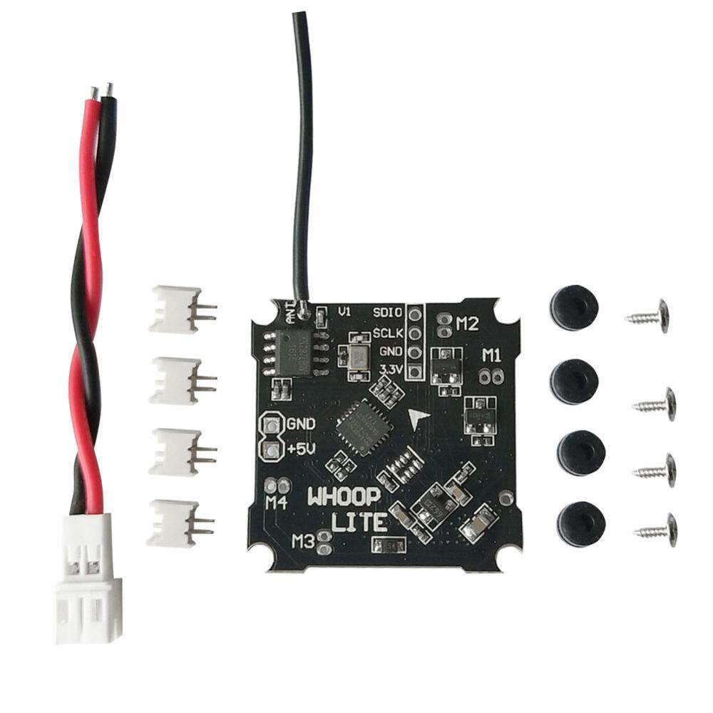 whoop Lite brushed flight controller *1 55mm PH-JST 2.0 power cable *1. M1.2x4mm screws (Fit for stock Inductrix frame) *1. Anti-vibration ruber dampers *4