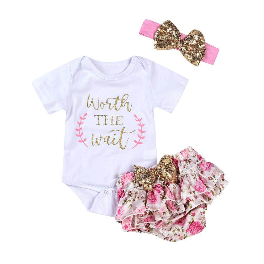Clothing Accessories For The Best Prices In Malaysia Hey Baby Abcd Romper 9 12 Bulan 3pcs Newborn Infant Girls Letter Floral Shorts Outfits Clothes Set