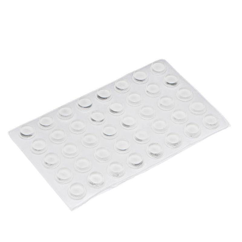 40 Self Adhesive Silicone Rubber Cabinet Door Pad Bumper Stop Damper Cushion