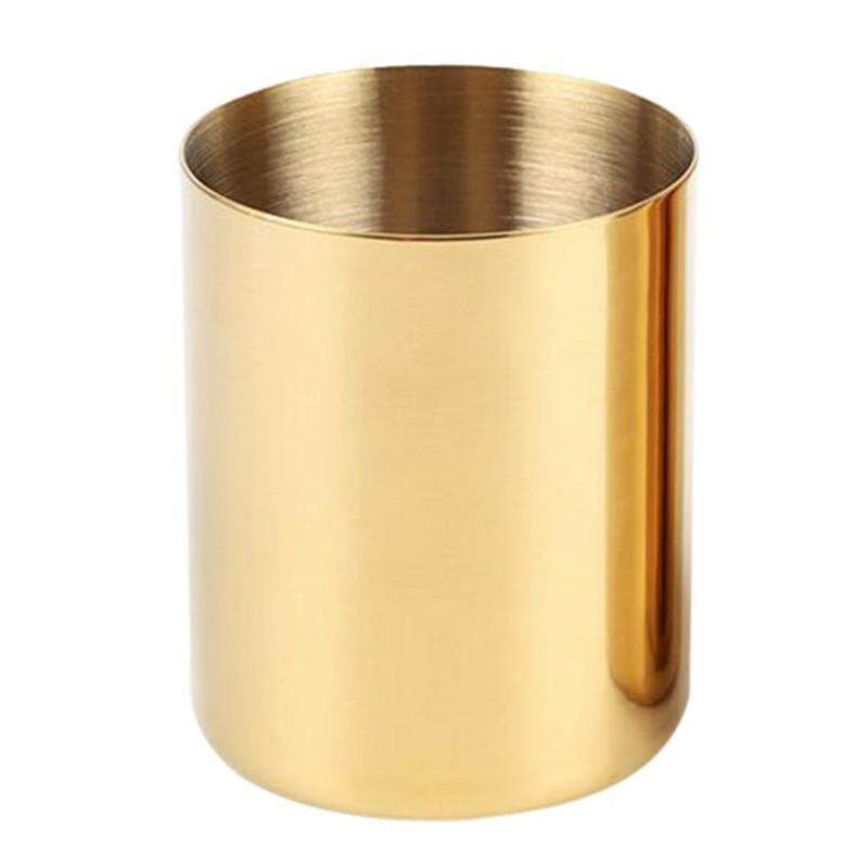 Free Shipping Gold Flower Vase Pen Holder Desktop Storage Container For House Office - Cylinder By Ralleya.
