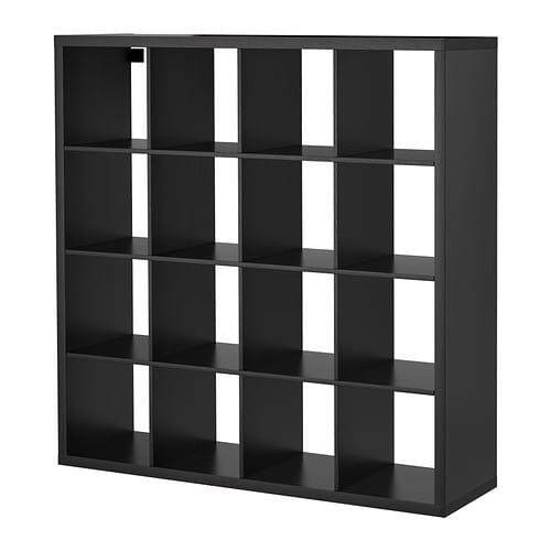 Kallax Shelving Unit Black-Brown 147x147 Cm By Eightynine.