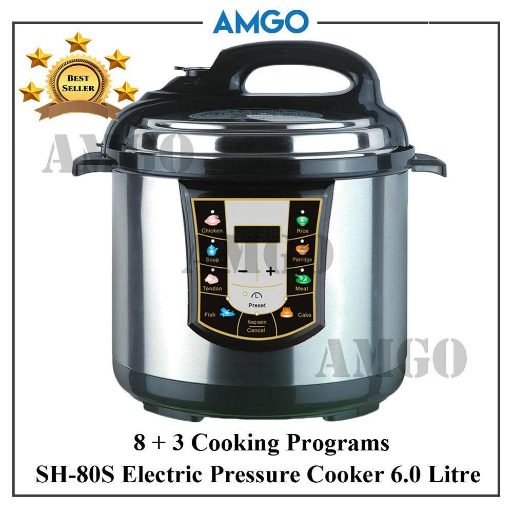 Electric Pressure Cookers Buy At Best Panci Presto New Viva 8 Liter Amgo Sh 80s Cooker 6l 3 Cooking Programs
