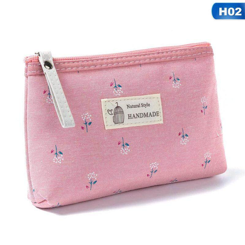 4c9a6bf56541 BloomHD Women Simple Small Floral Embroidery Boutique Zipper Cosmetic Bag