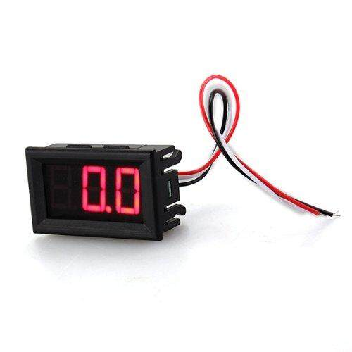 Meter Mini Panel 0-100V DC voltmeter Tension Show 20mA three red wire