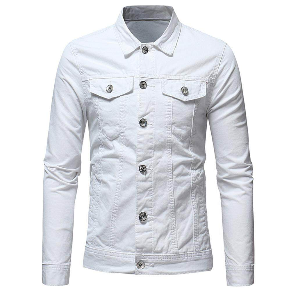 Mens Leather Jackets For The Best Prices In Malaysia Atasan Synthesis Hitam Shop At Velvet Rd Men Simple Solid Color Jacket Casual Slim Short Style Denim Coat Cotton Tops