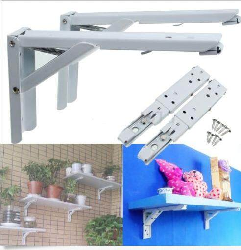 12 2PCS Length Steel Folding Triangle Bracket Wall Mounted Shelf Supports Home kitchen Use