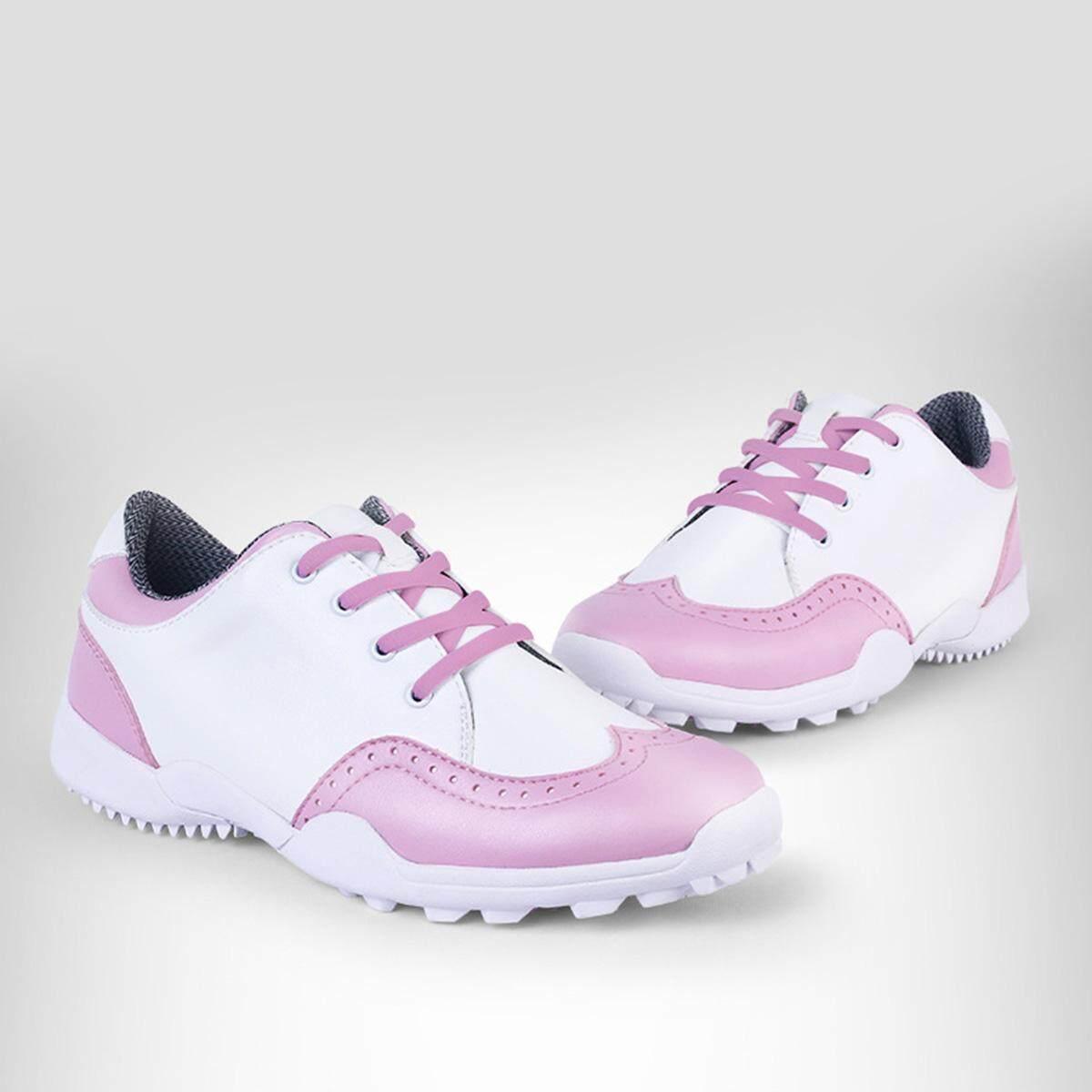 Women Lace Up Sport Golf Shoes Color Pink/black Size 35-39 By Yunhaitech.
