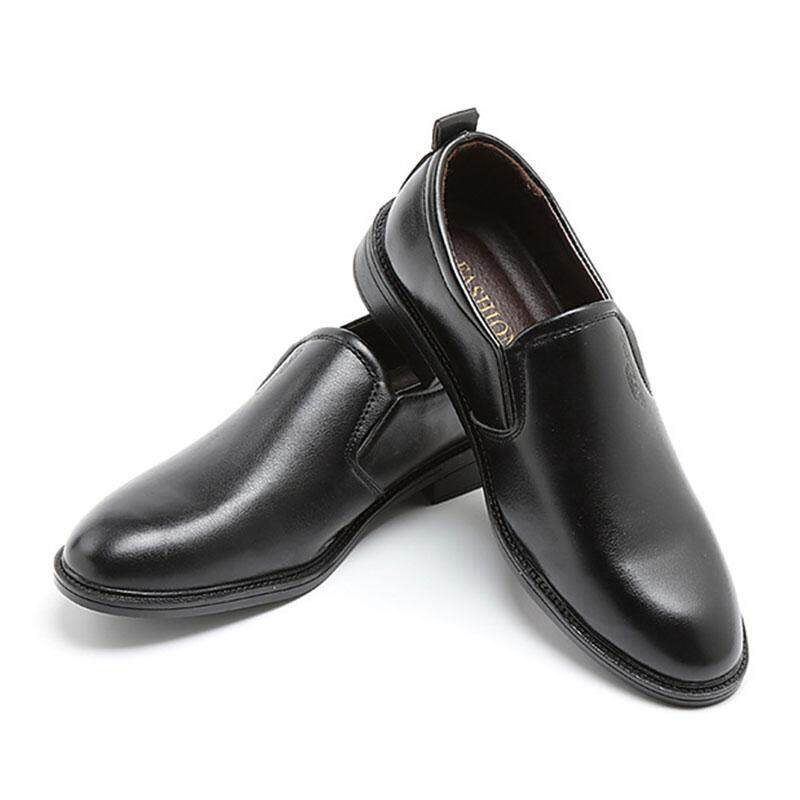 WJKFGI Fashion Men Formal Shoes Business Affairs Style Comfortable Breathable Casual Leather Shoes