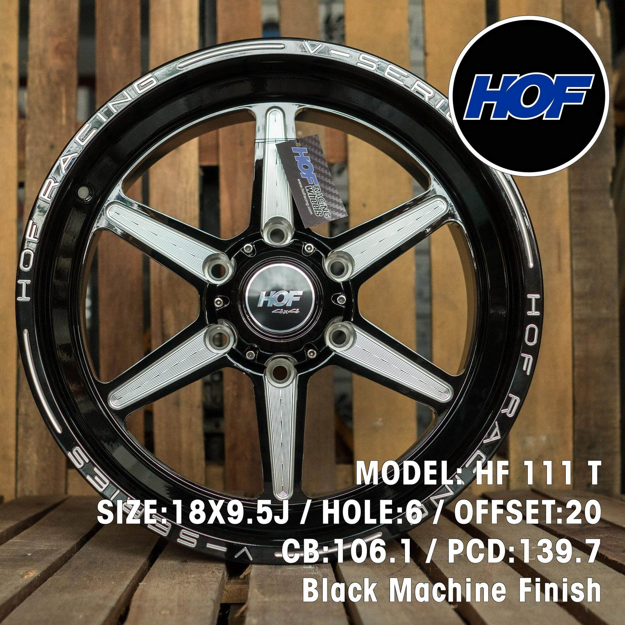 Hof 4x4 Wheels Hf111t 18x9.5j Black Machine Finish By Motareign.