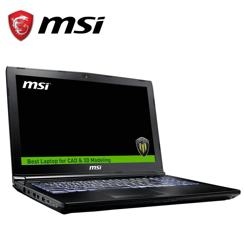 MSI WE62 7R1-1877 15.6 FHD Workstation Laptop (i7-7700, 8GB, 1TB+128GB, Quadro M1200 4GB, W10) Malaysia