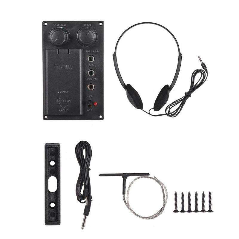 Electric Violin Piezo Pickup System Silent EQ with Headphone Audio Cable Malaysia