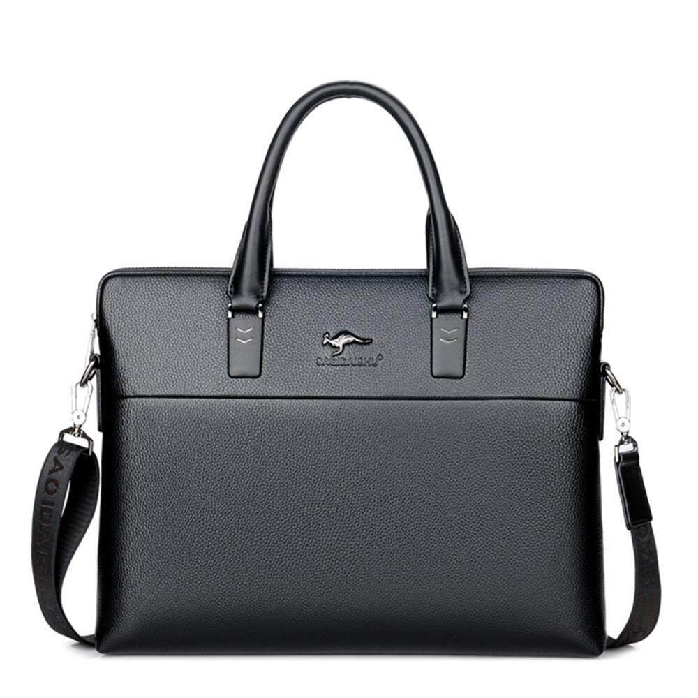 0d88541623 DS-Mart Modern Men s Leather Business Bag Water Resistant Shoulder  Messenger Bag 14