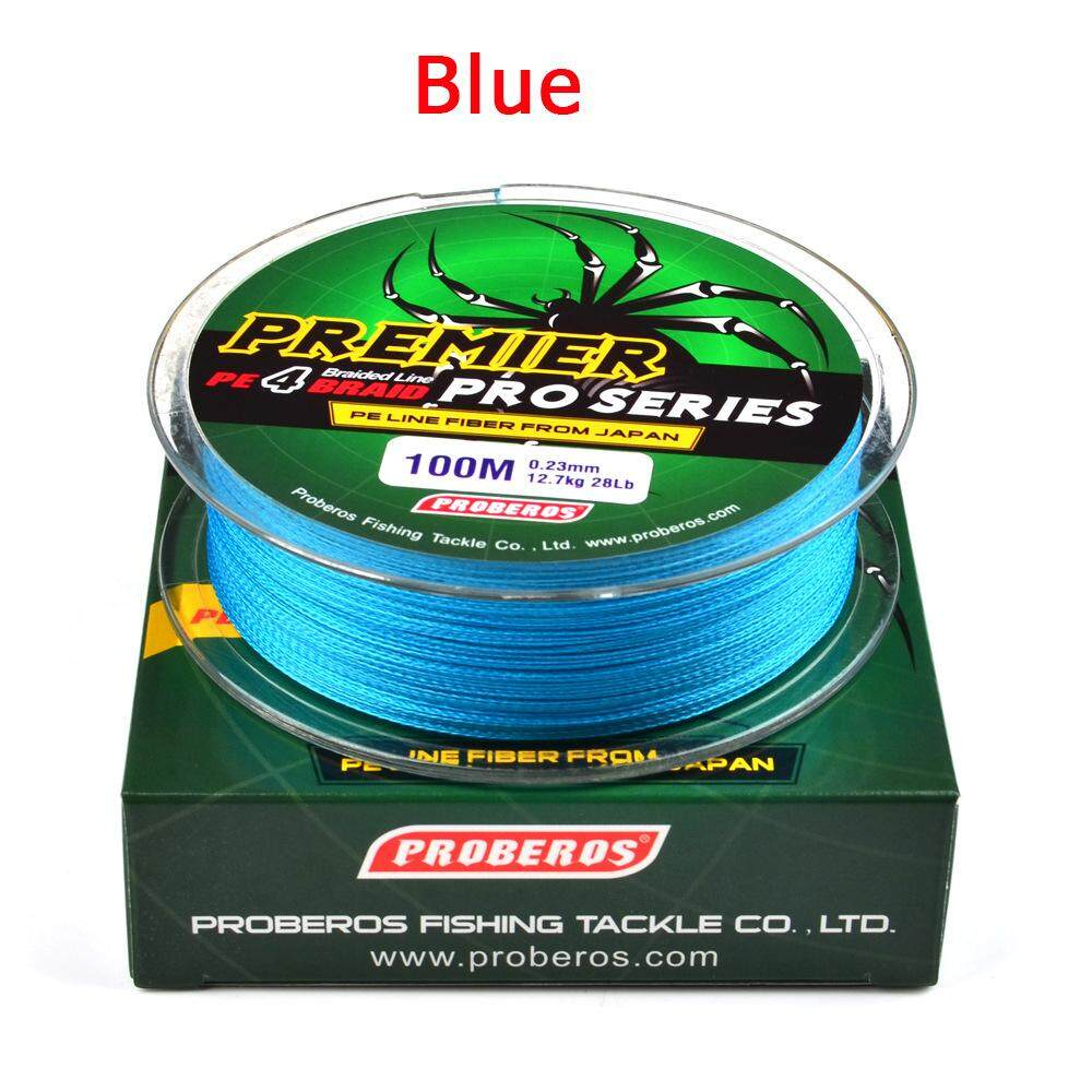 Hiqueen 100m Super Strong Braided Wire Fishing Line Pe Material Multifilament Carp Fishing Rope Line Number:6.0/60lb Color:blue By Hiquuen.