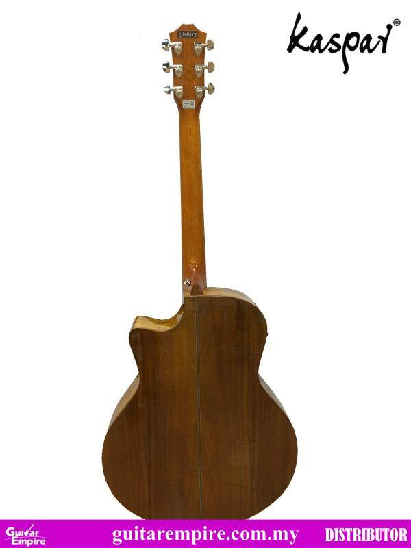 KASPAR Solid Top Semi-Acoustic Guitar K714C-EQ ,With Pickup and Built-in Tuner, Rosewood Fingerboard, Gloss Furnishing Malaysia