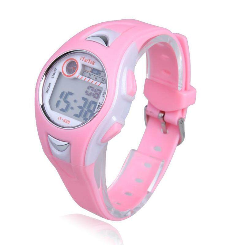 World Deal-Children Boys Girls Swimming Sports Digital Wrist Watch Waterproof Pink Malaysia