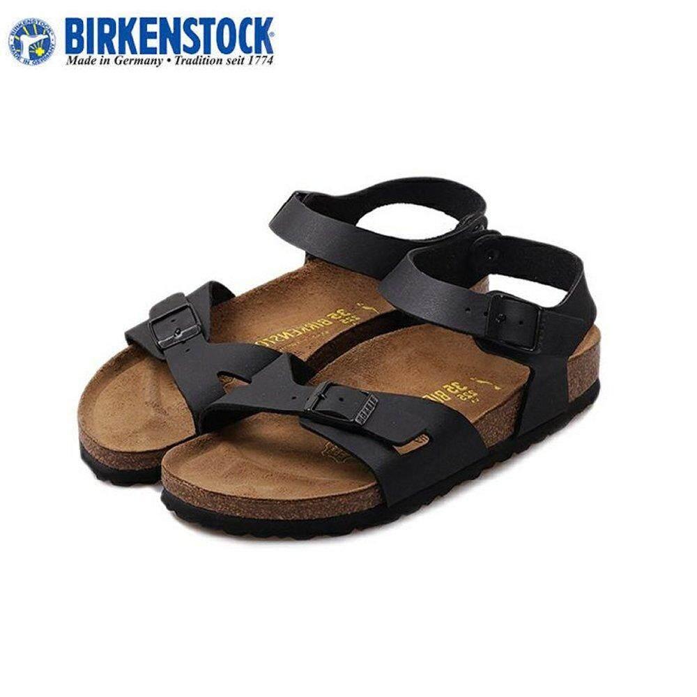 38585167e0775 Birkenstock Unisex Original Rio 031791/3 Black Sandals Birko-Flor® Made in  Germany