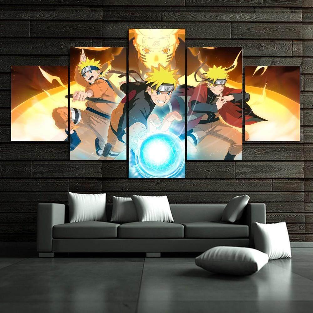 Poster Kamar Tidur Lukisan 5 Panel Tanpa Bingkai Naruto Gambar Untuk Dinding Dekorasi Rumah Modern Cetakan Seni Kanvas Lukisan Hadiah