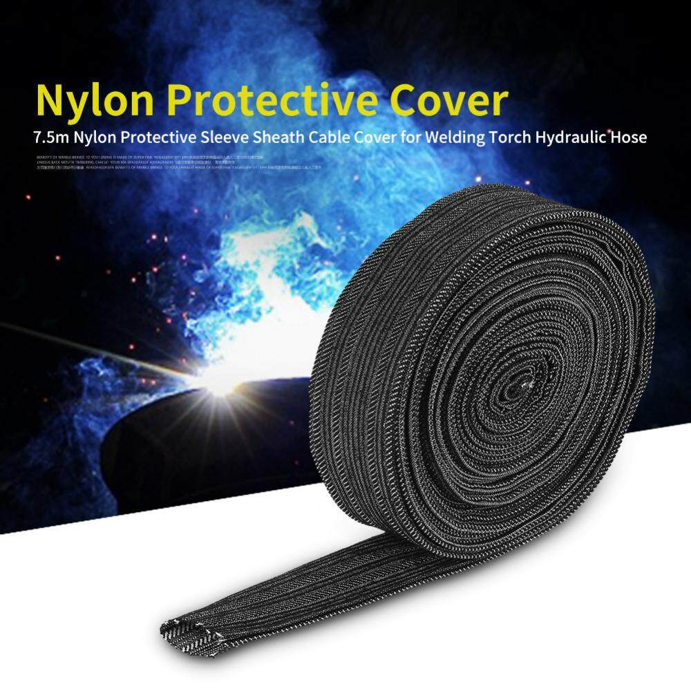 SHANYU 7.5m Nylon Protective Sleeve Sheath Cable Cover for Welding Torch Hydraulic Hose