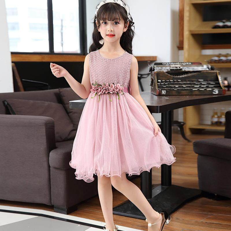 a943791686478 2019 summer kids big girl chiffon dress lace little girls party dress kids  elegant dresses size