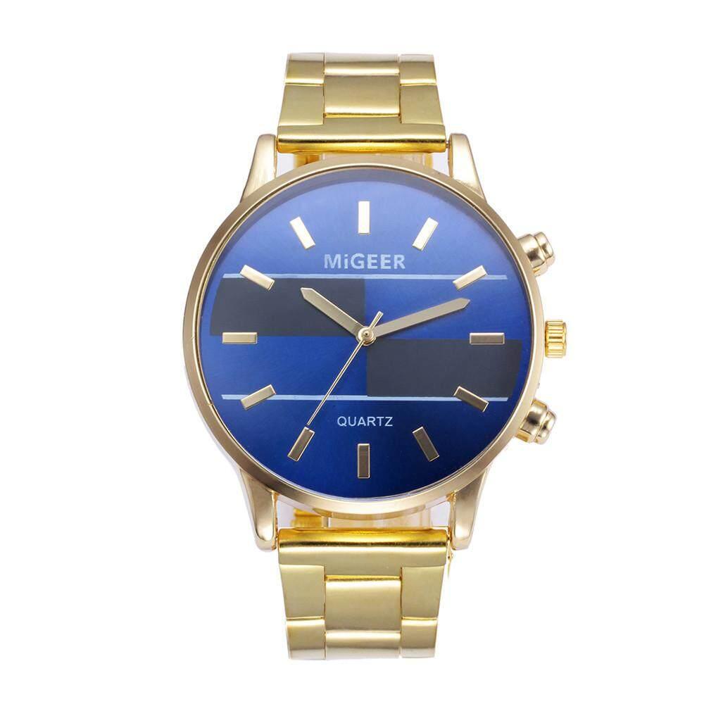 Fashion Man Design Stainless Steel Analog Alloy Quartz Wrist Watch Malaysia