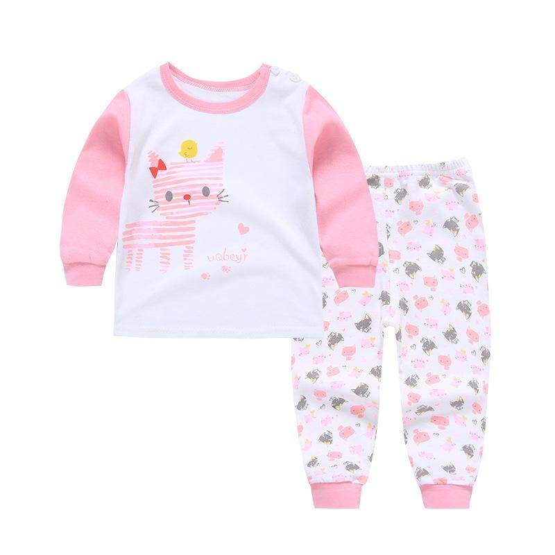789a3961eaffd ❤️Cutiebaby New Fashion 2pcs Kids Baby Boys Girls Clothes Top+Pants Cotton  Baby Sleepwear