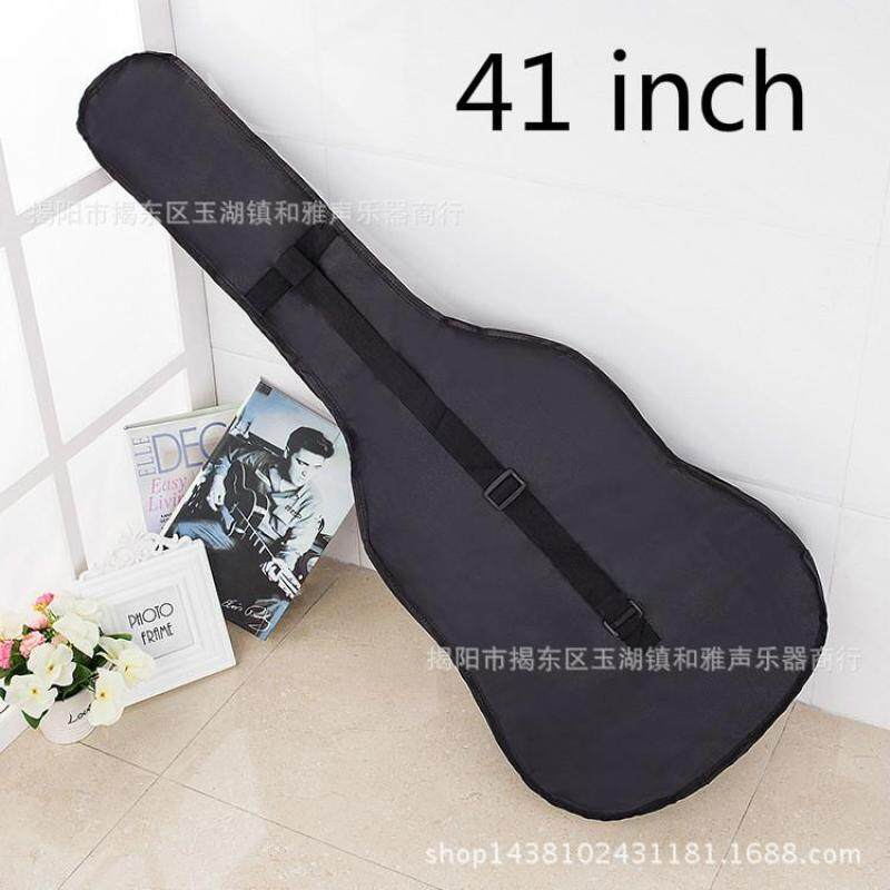 Guitar Waterproof Backpack Folk Guitar Bag Oxford Ordinary Single Waterproof Bag-Black Malaysia