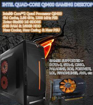 INTEL CORE2QUAD Q9400 GTX650 1G GDDR5 4GB RAM GAMING DESKTOP PC