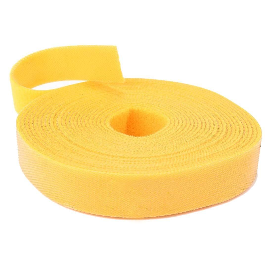 Long Fastening Tape 2cm Hook & Loop Fastening Tape Cable Ties 5M Yellow