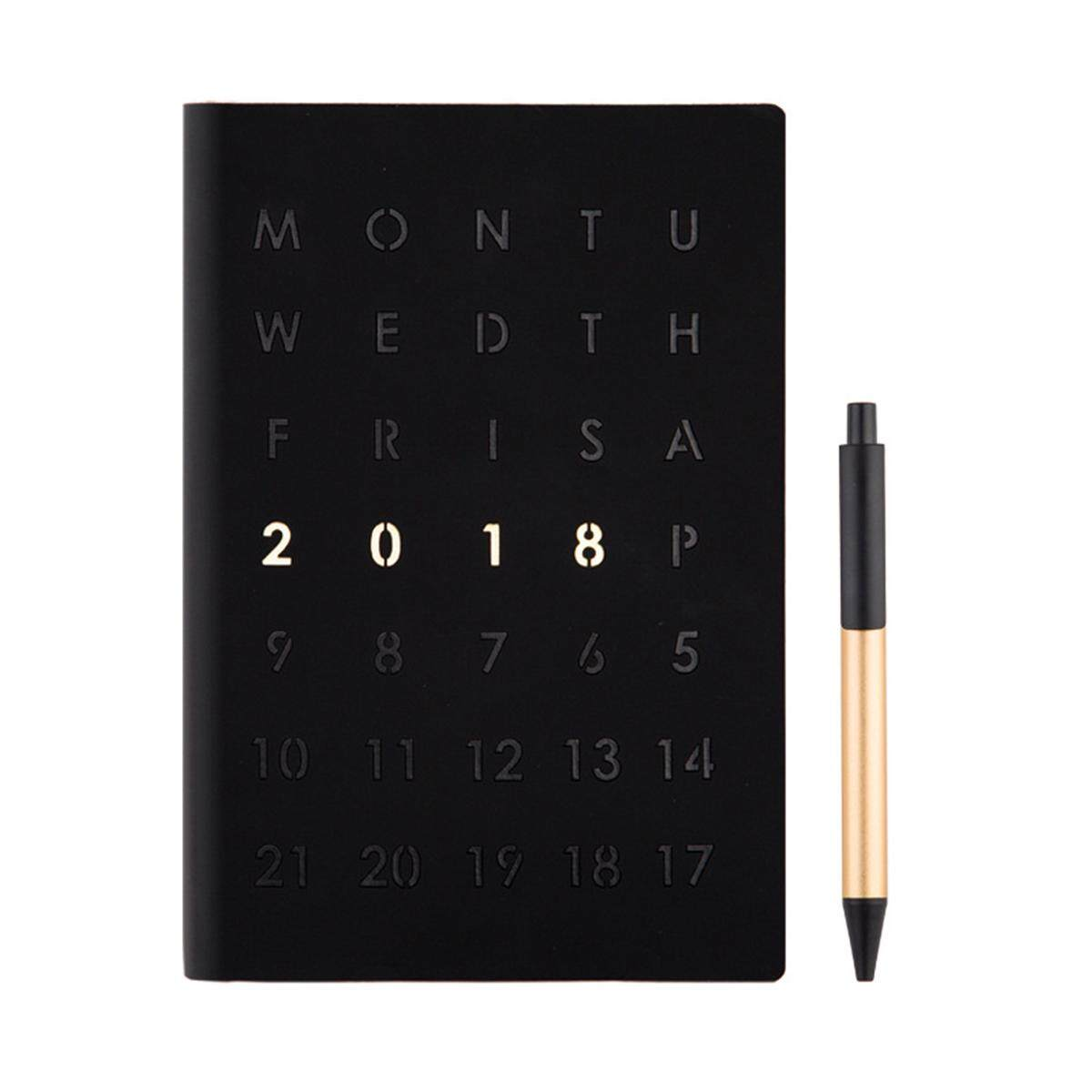 A5 2018 Diary Weekly Monthly Schedule Notebook Journal Planner Calendar Book Day By Glimmer.