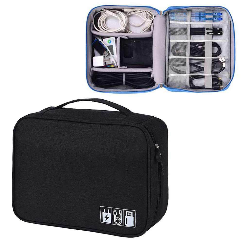 5046e9ca3958 OutFlety Electronic Organizer, Travel Gadget Bag Double Layer Waterproof  Electronic Accessories Case for 9.7 Inch Tablet, Cables, Chargers, Memory  ...
