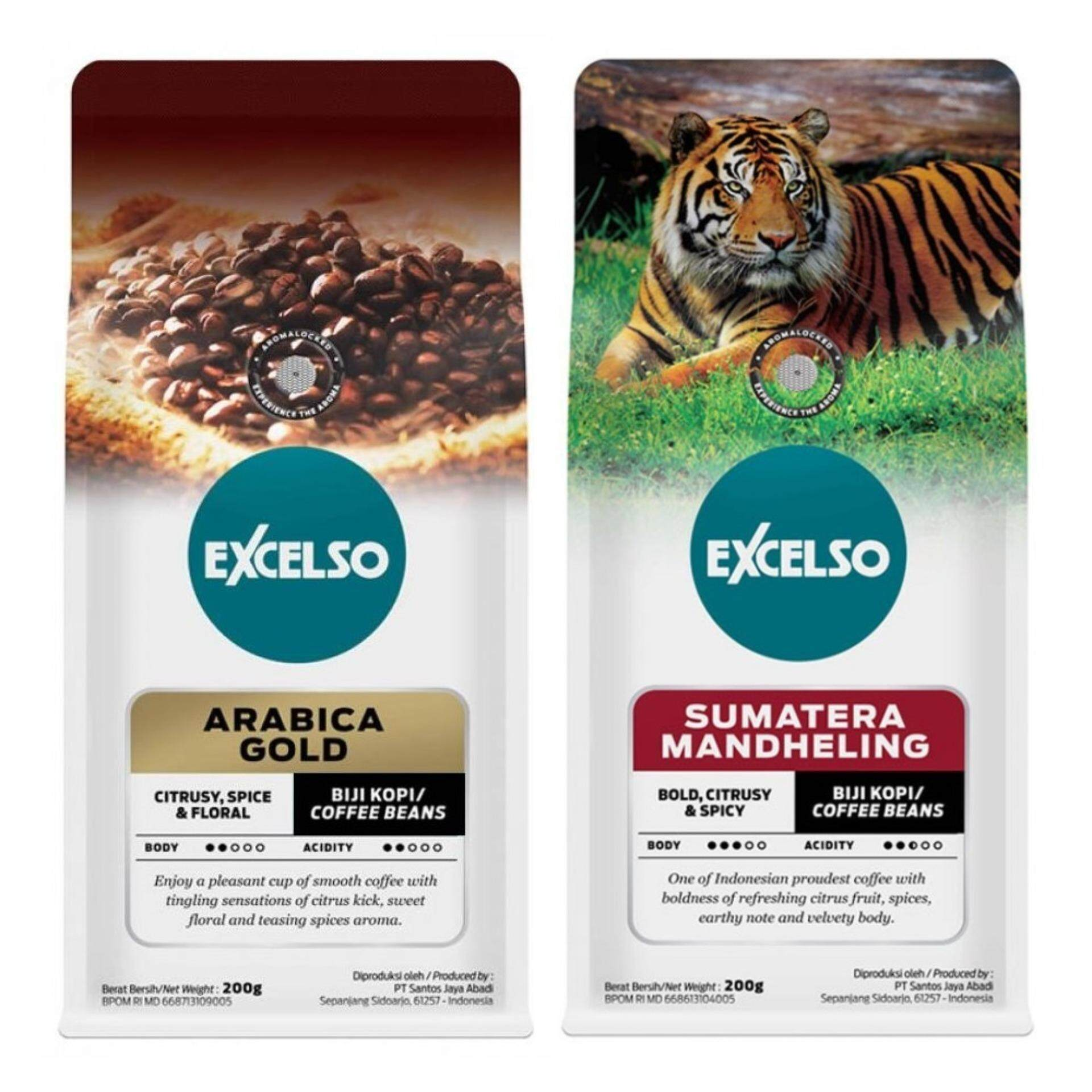 Excelso Arabica Gold + Sumatera Mandheling Coffee Bean Combo + FREE scoop