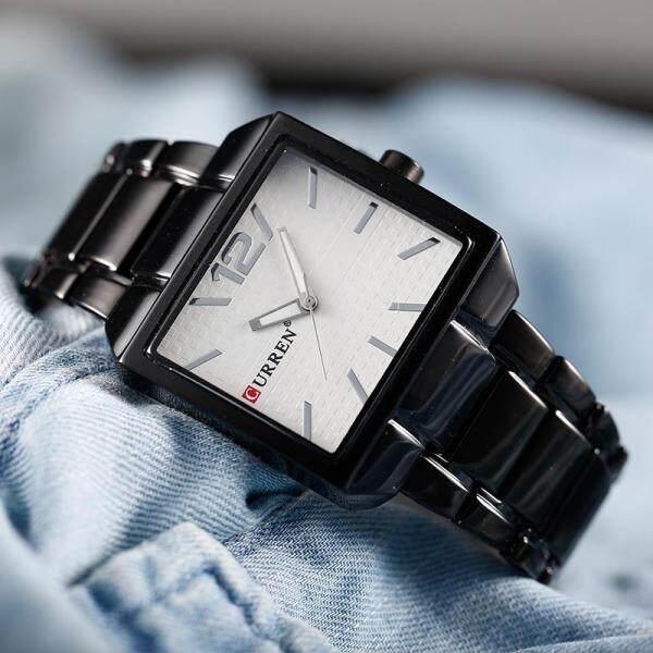 CURREN 8132 Men New Fashion Sports Watches Quartz Analog Man Business Quality All Steel Watch 3 ATM Waterproof Wristwatch Malaysia