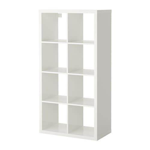 Kallax Shelving Unit High-Gloss White 77x147 Cm By Eightynine.