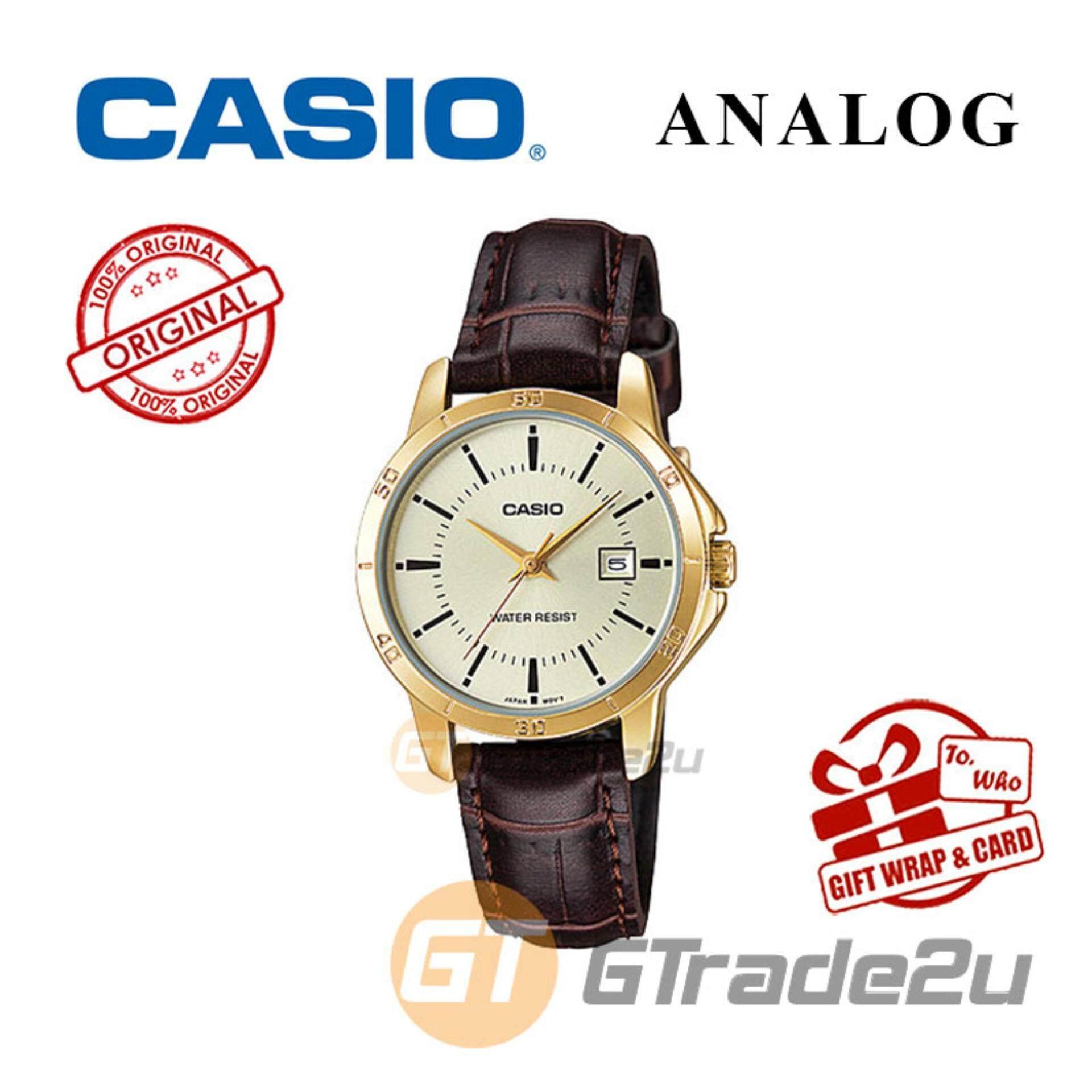 Casio Watches With Best Price At Lazada Malaysia Jam Tangan Ae 1000w 1b Original Standard Ltp V004gl 9av Analog Ladies Watch Gold Leather