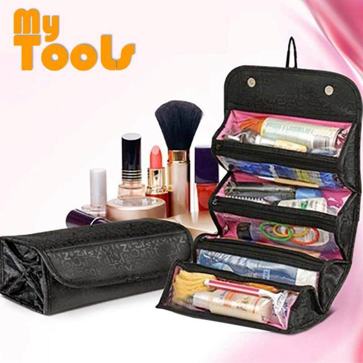 ec279089c6 Roll n Go Cosmetic Bag for Make Up   Toiletry Organizer Travel Bag