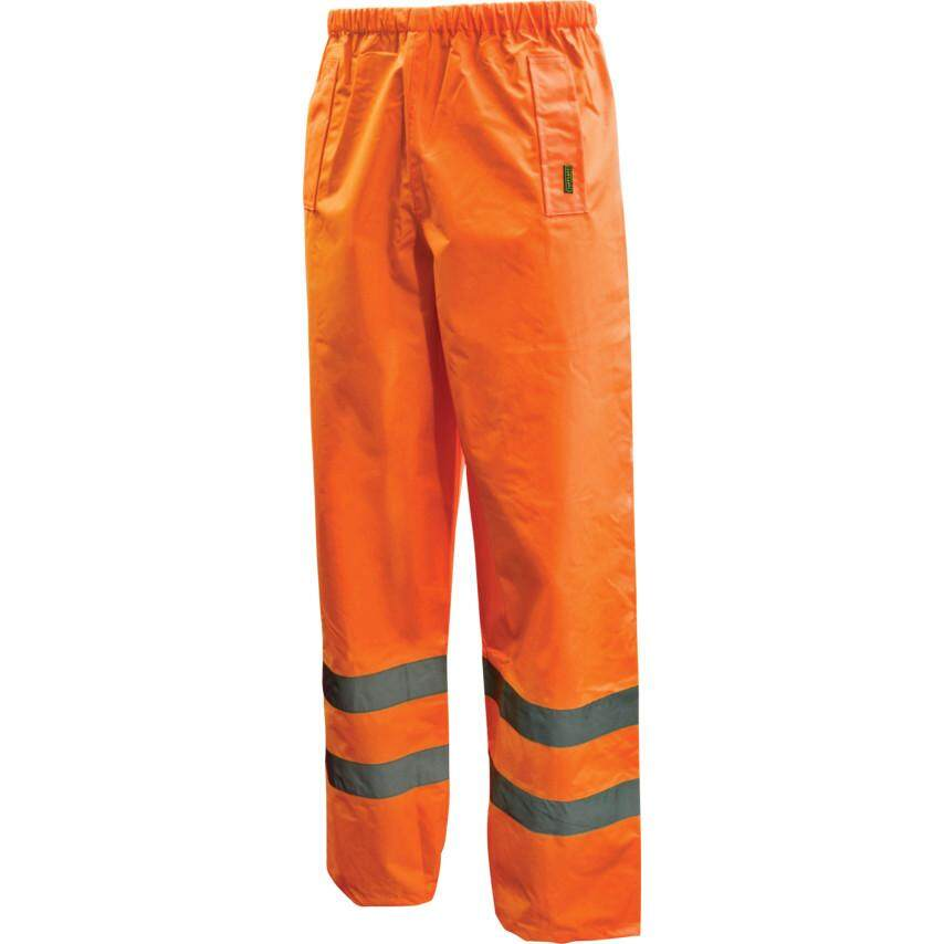 XL SIZE HI-VIS TROUSERS ORANGE