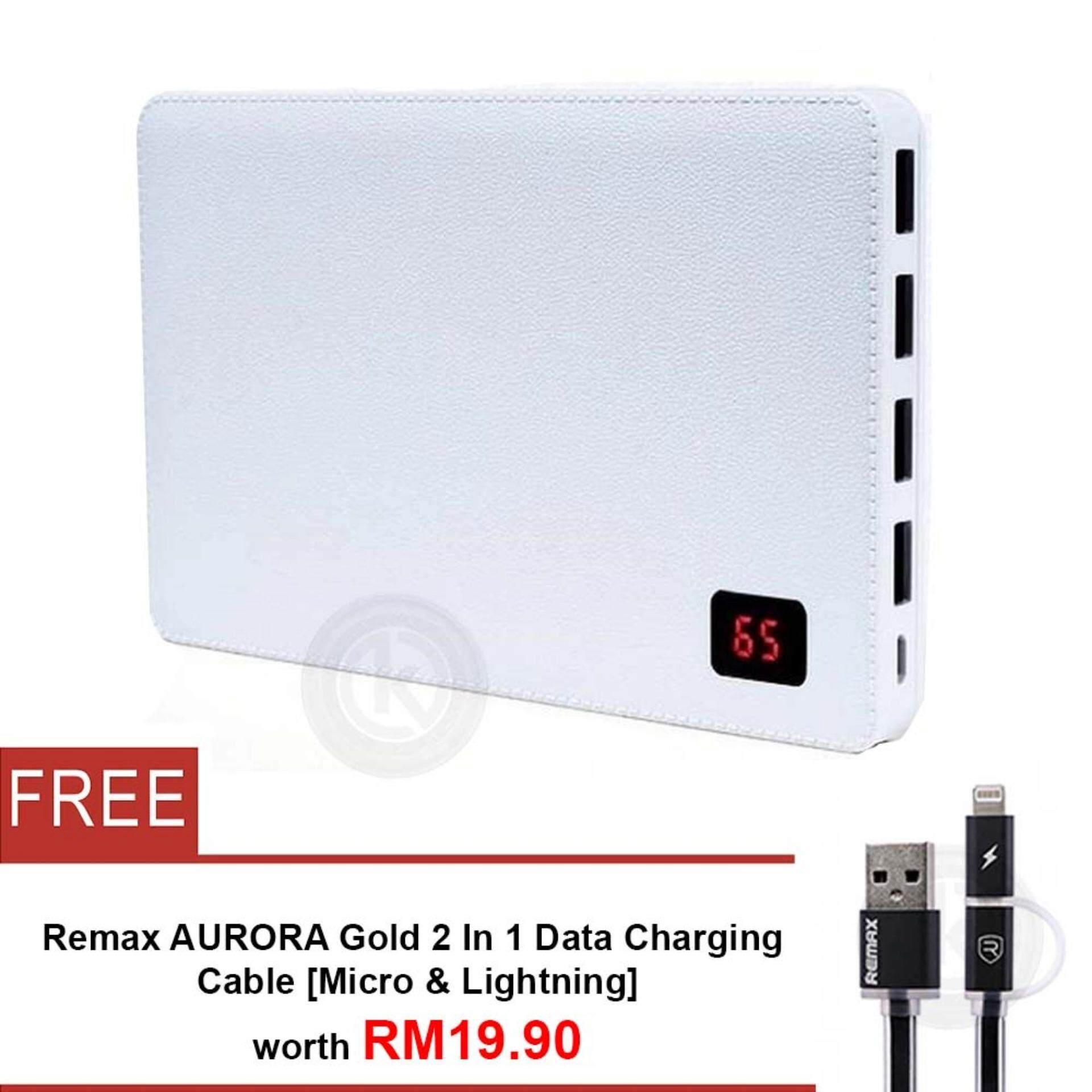 Remax Power Banks For The Best Prices In Malaysia Proda Cable Usb Charger Ppp 7 Notebook 30000mah Bank 4 Port Free Aurora