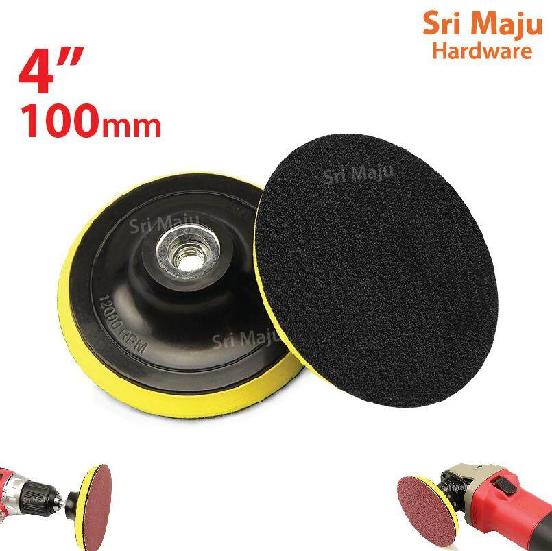 "100mm 4"" M10 Backing Pad For Abrasive Sand Sanding Paper Disc Polish For Gws 060 By Sri Maju Hardware."